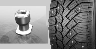 Протектор шины и шип